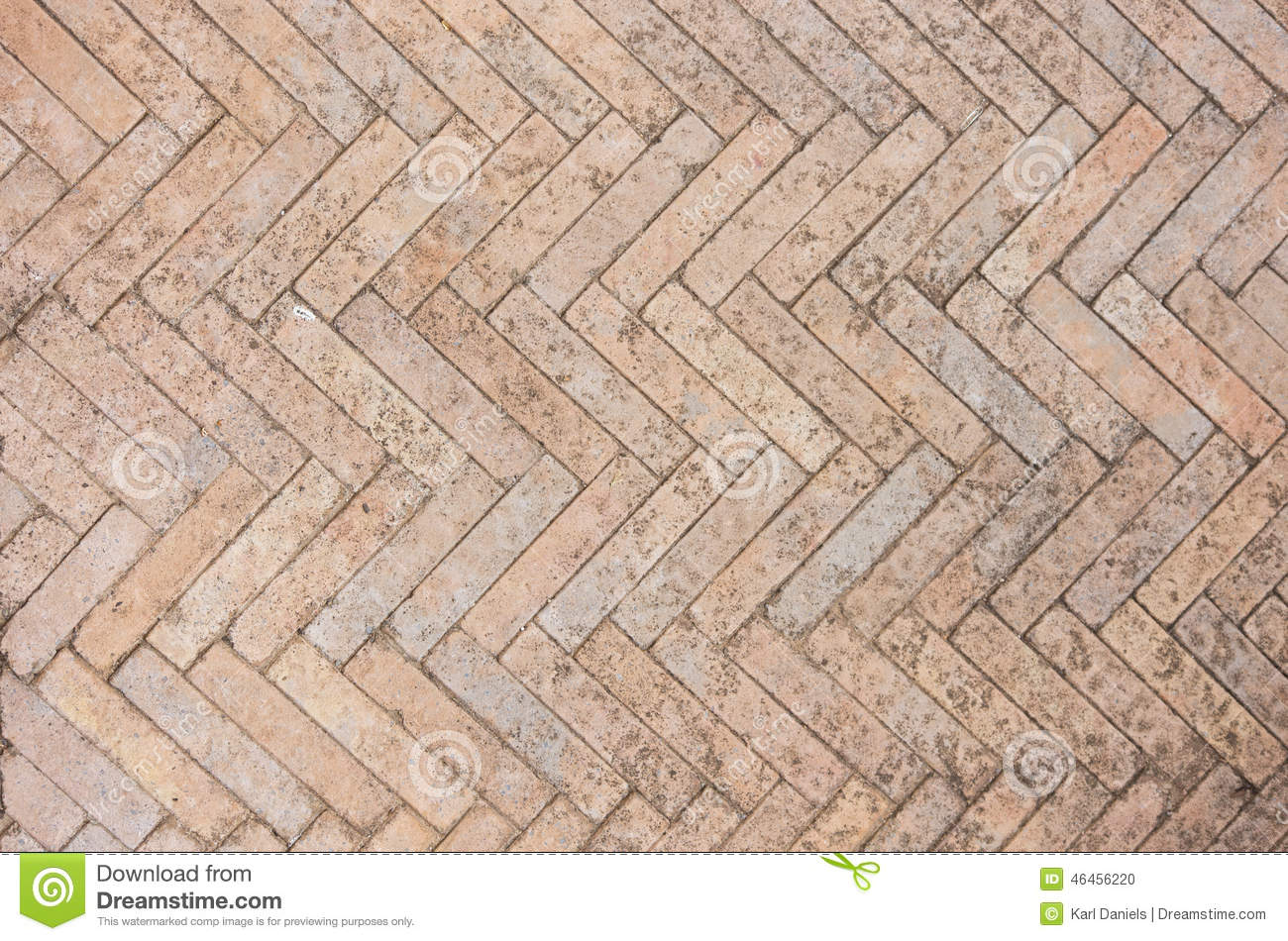 Courtyard Floor Plans Fishbone Paving Stock Photo Image 46456220