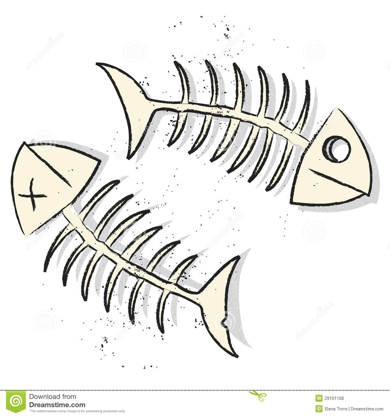 Fishbones Vector Royalty Free Stock Photos - Image: 29101108