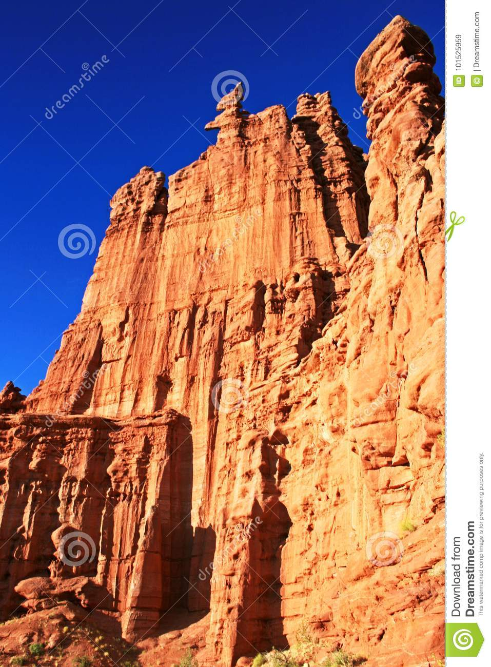 Fisher towers stock photo. Image of national, arches
