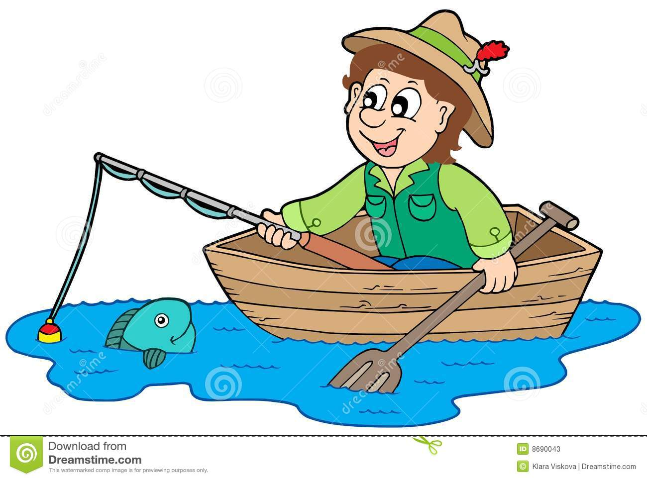 Fisherman In Boat Stock Photos - Image: 8690043