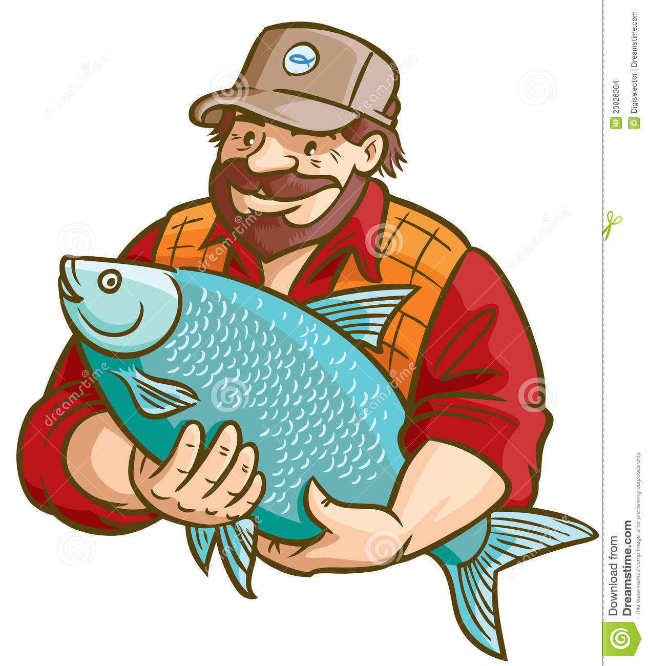Fisherman With Fish Stock Images