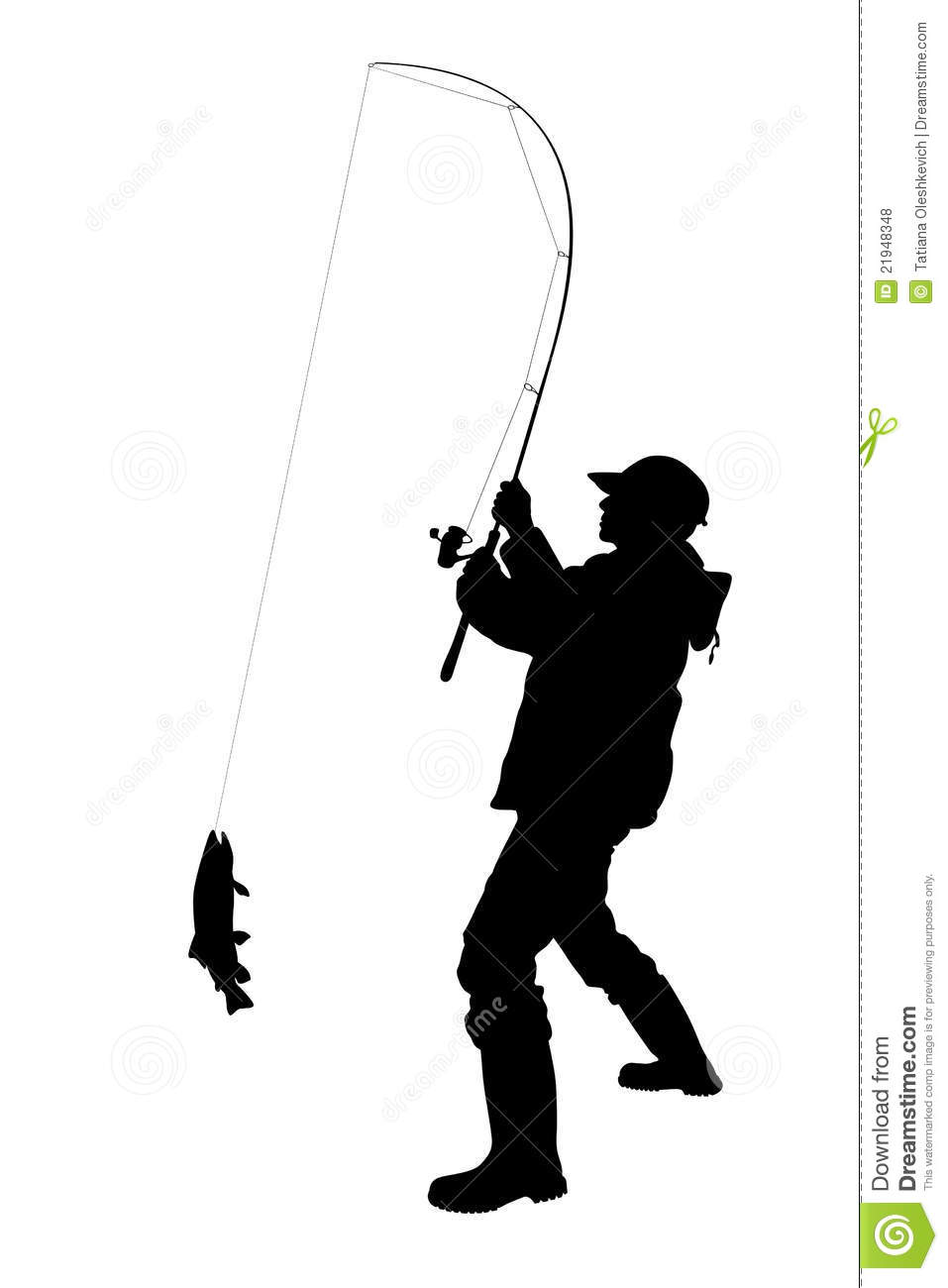 Fisherman With A Fish Isolated Royalty Free Stock Photos - Image ...