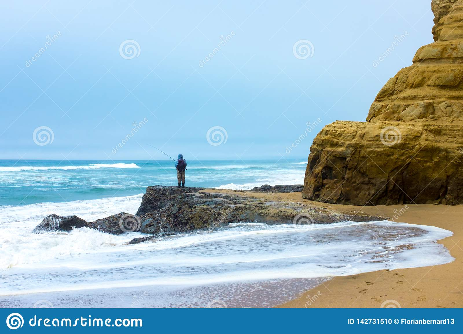 Fisherman in Half Moon Bay