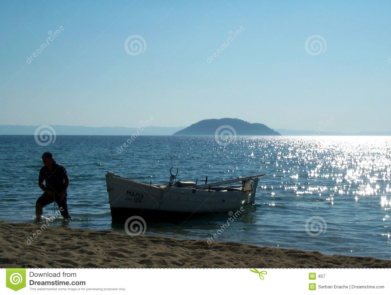 Fisherman and his boat