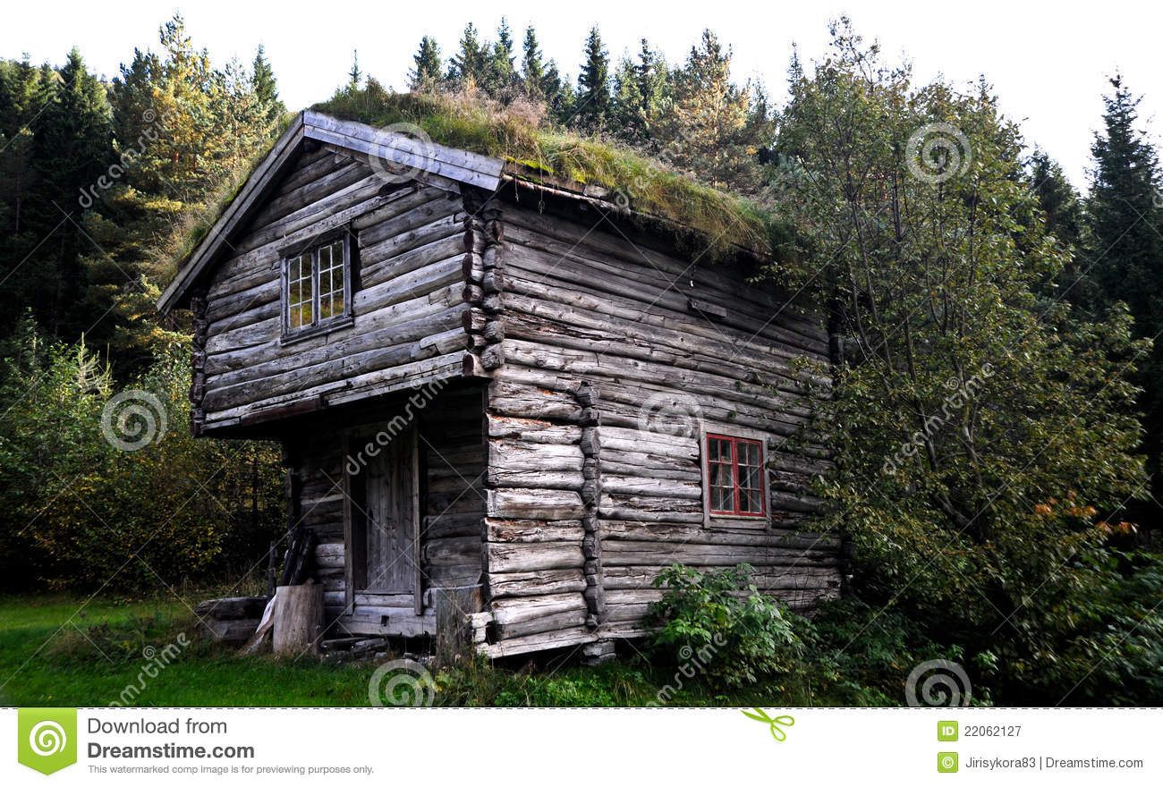 Fisherman 39 S Cottage In The Woods In Norway Royalty Free Stock Photography Image 22062127