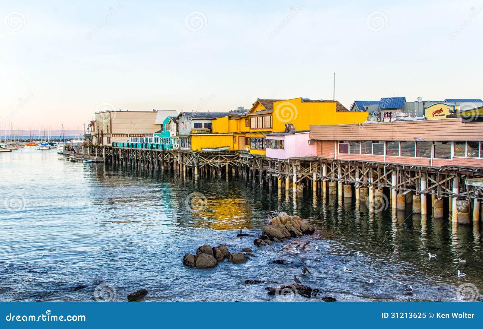 Fishermans Wharf At Monterey Bay California Editorial
