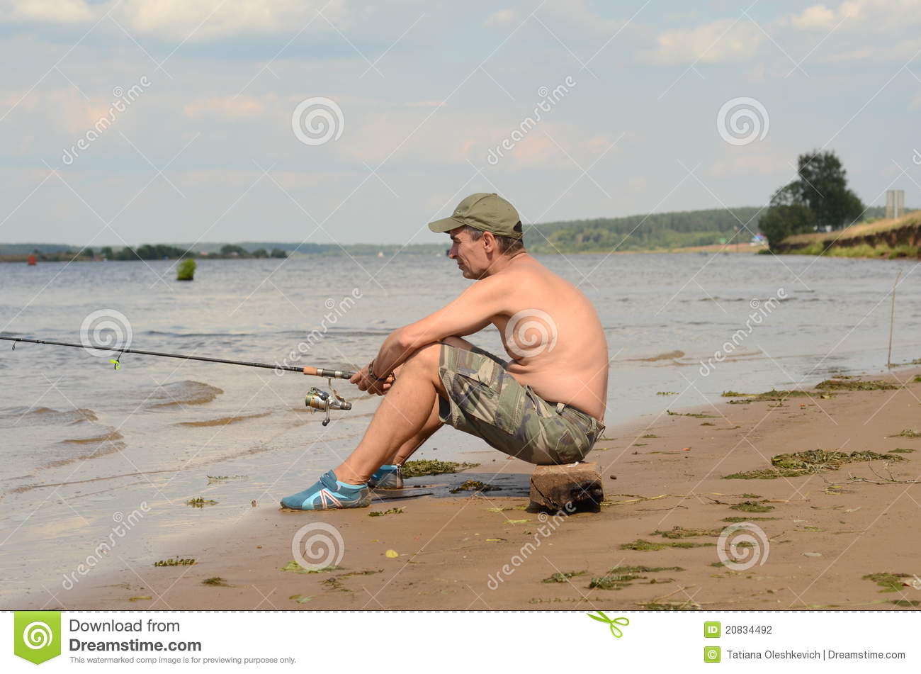 Fisherman Sitting In Aboat Royalty-Free Stock Photo ...