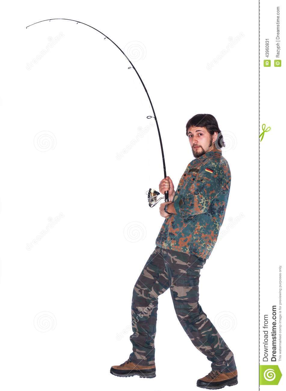 Fisherman throwing fishing rod stock image image 43960831 for How many fishing rods per person in texas