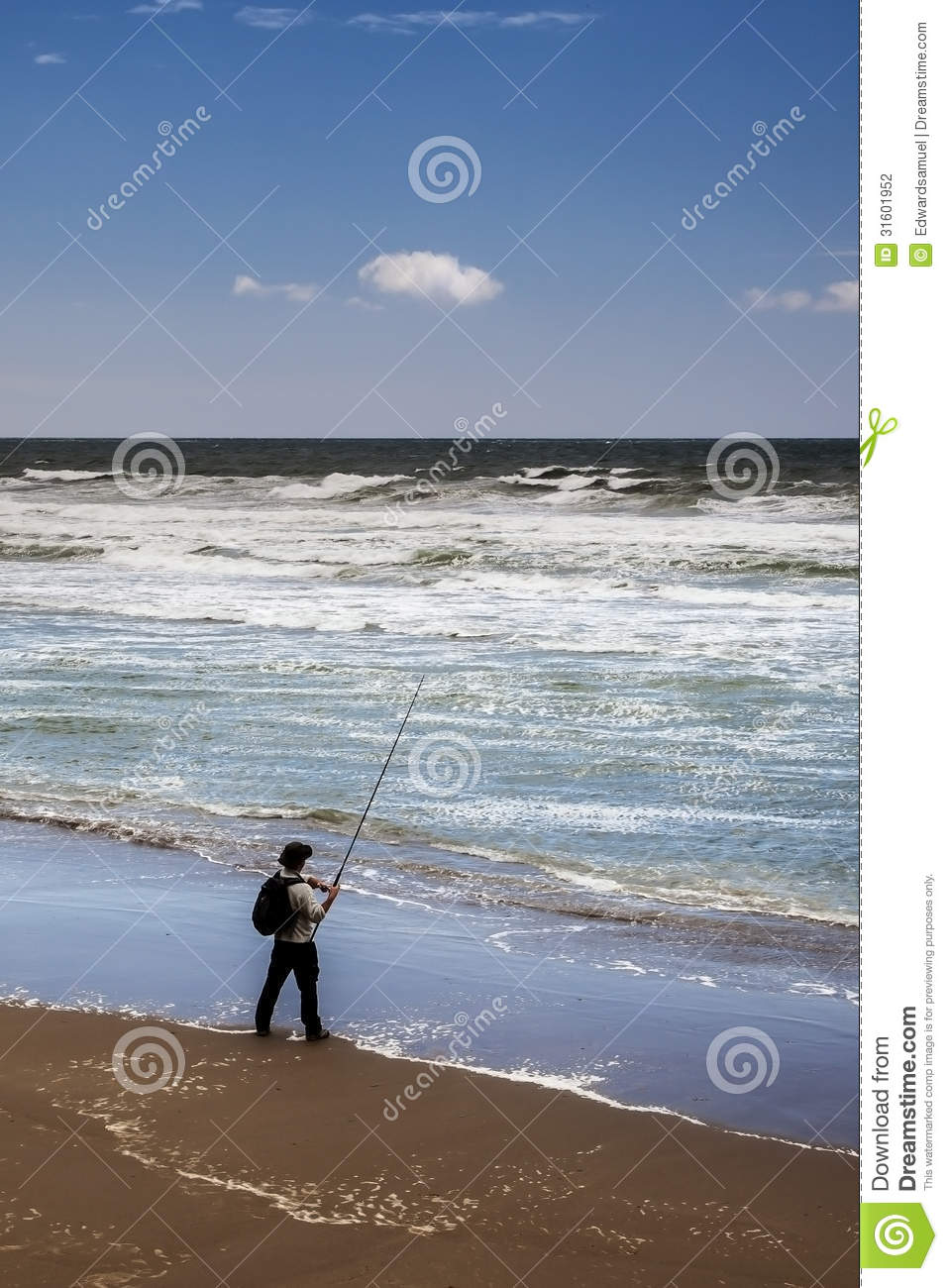 Fisherman at the tide stock photography image 31601952 for Tide for fishing