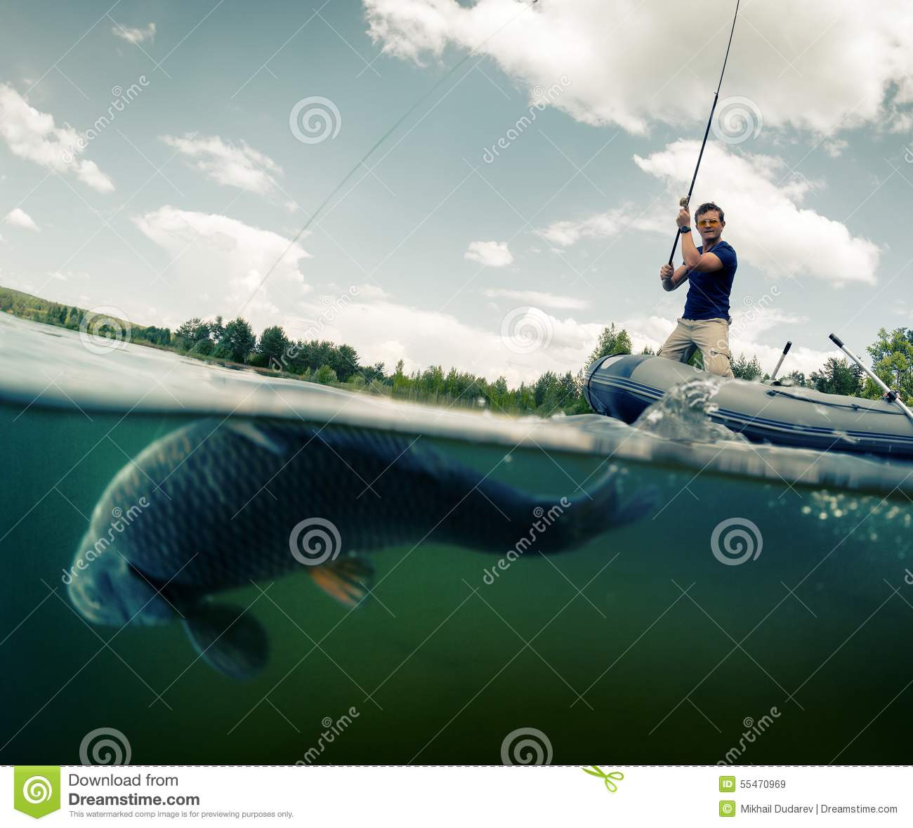Fisherman stock image image of hard alone wild curve for Idaho out of state fishing license