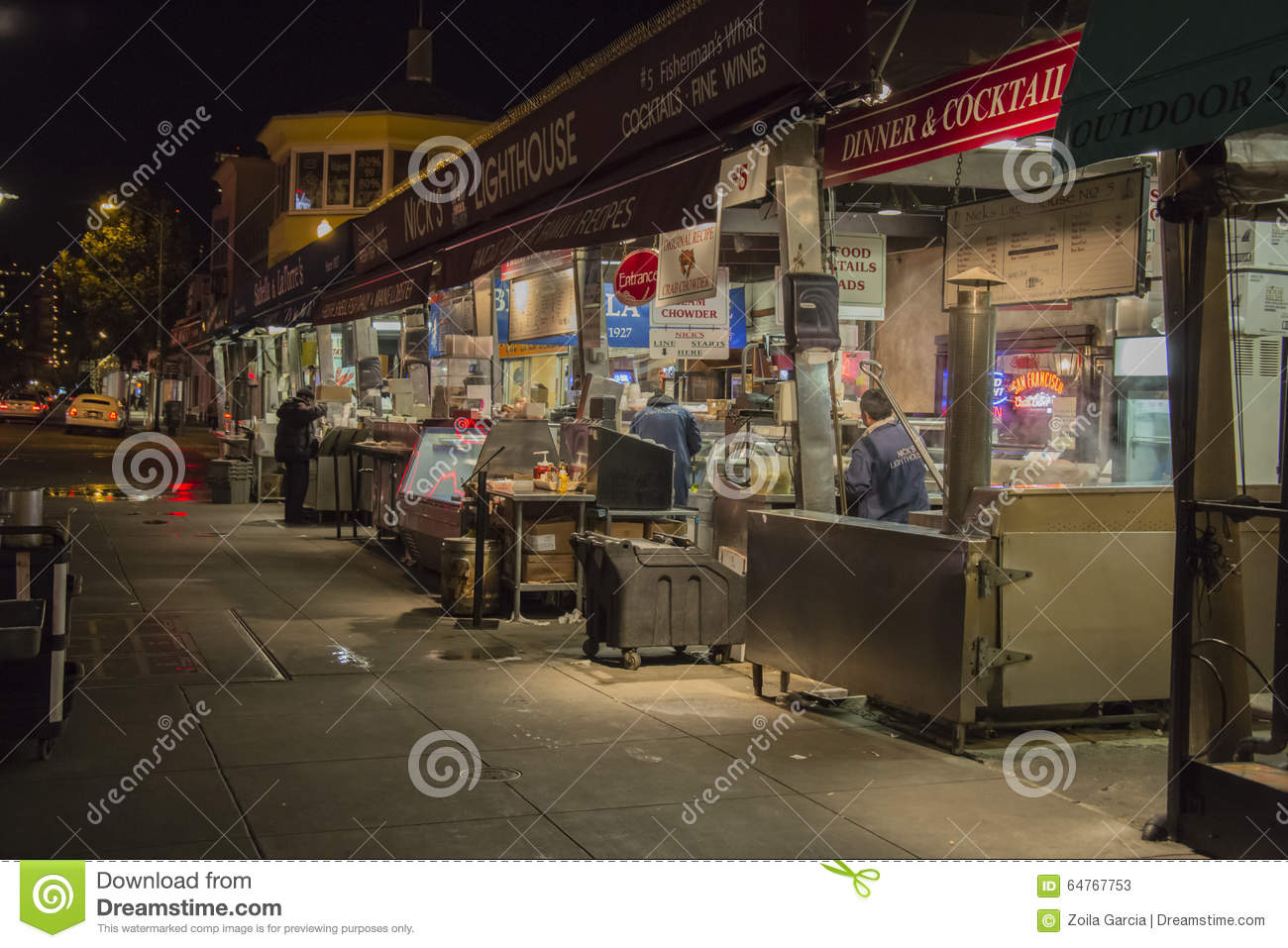 Stock photos fishermans wharf markets image 64767753 for City fish market fort myers