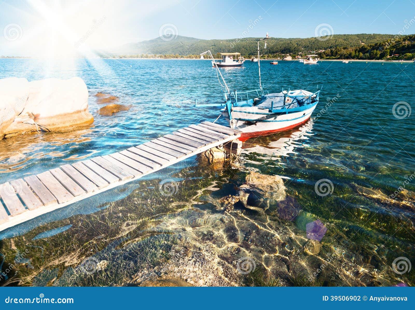 Fishermen boat in Sithonia, Northern Greece