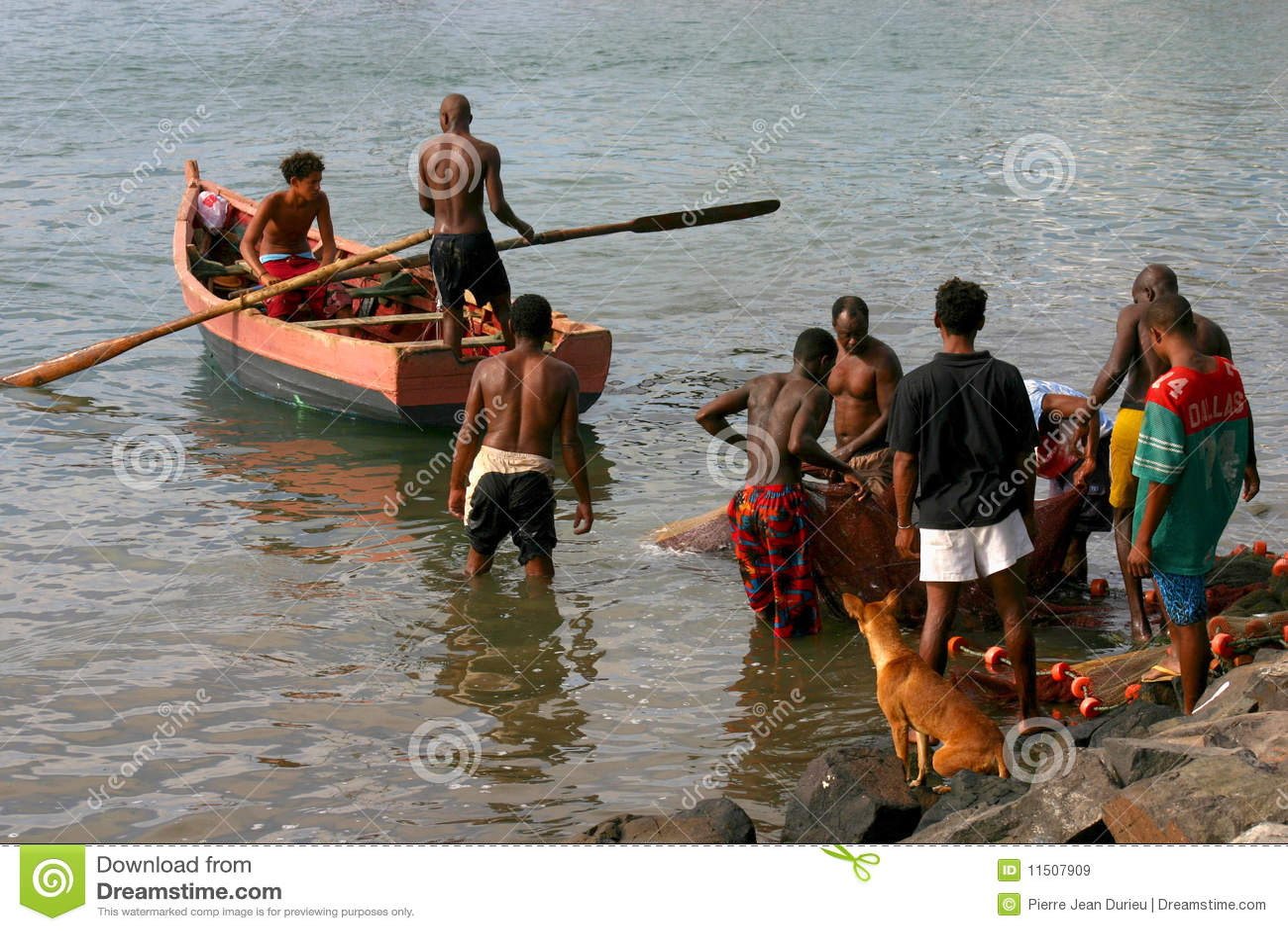 Fishermen in Cape verde