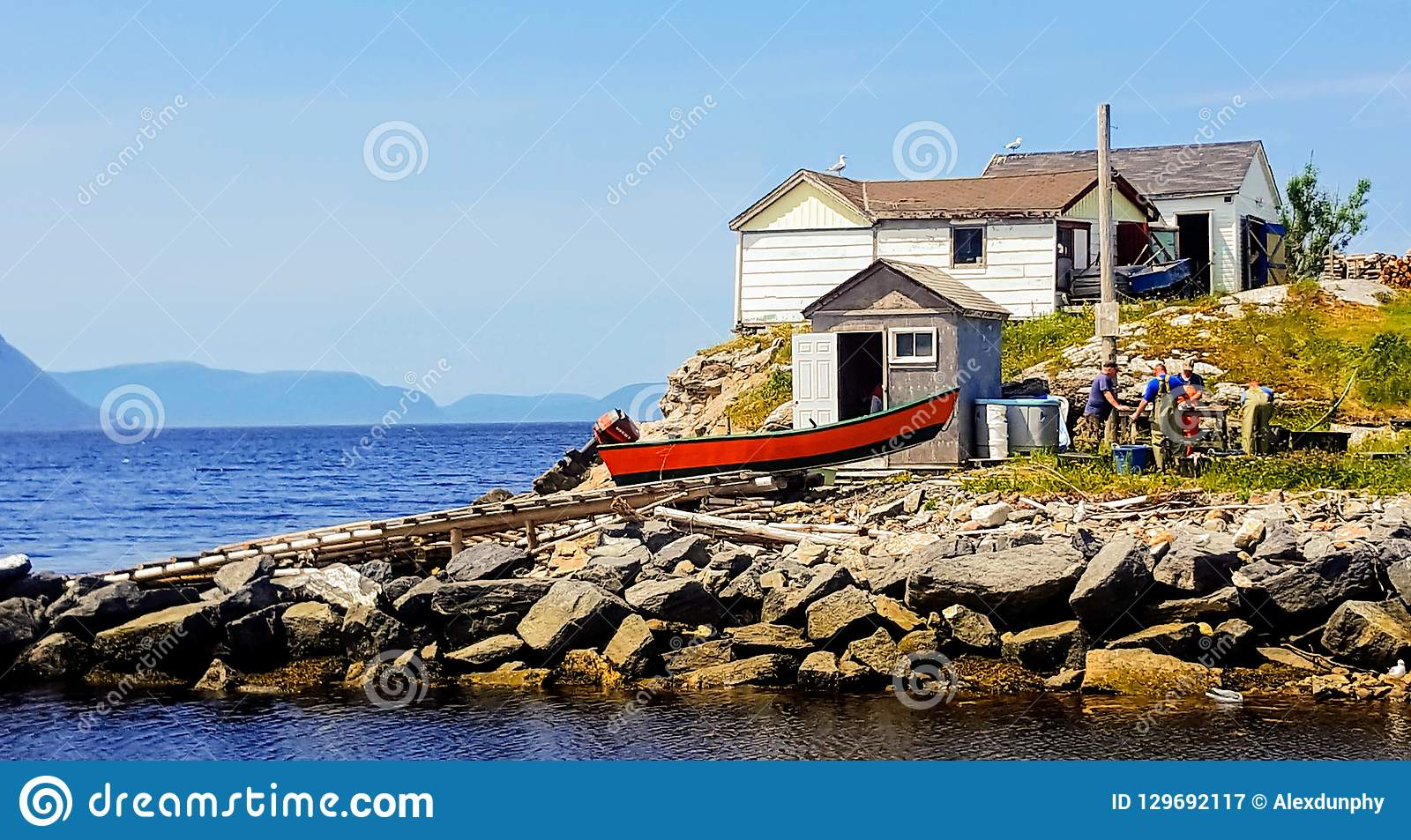 Fishermen in Irishtown NL.