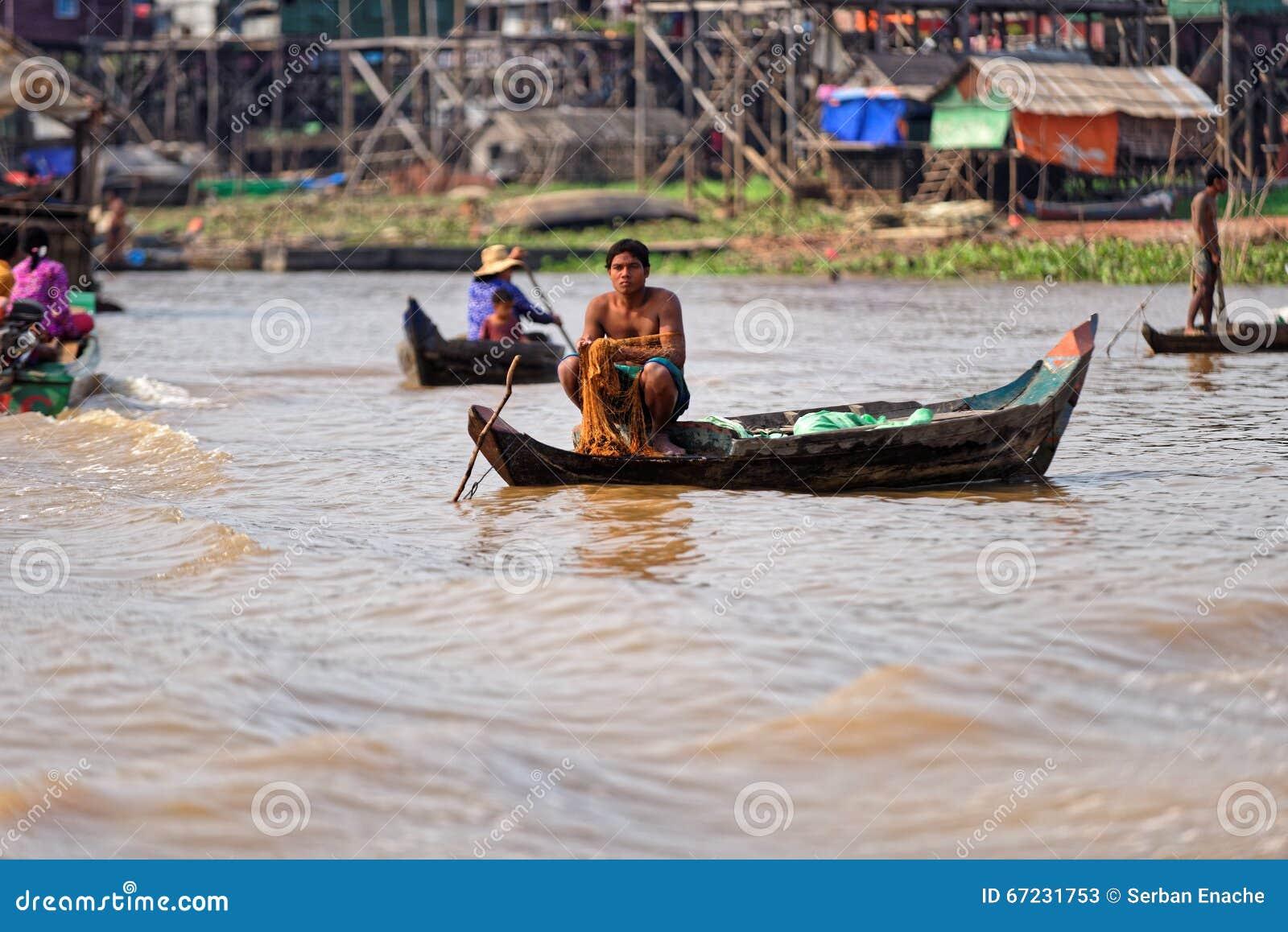 Fishermen, Tonle Sap, Cambodia