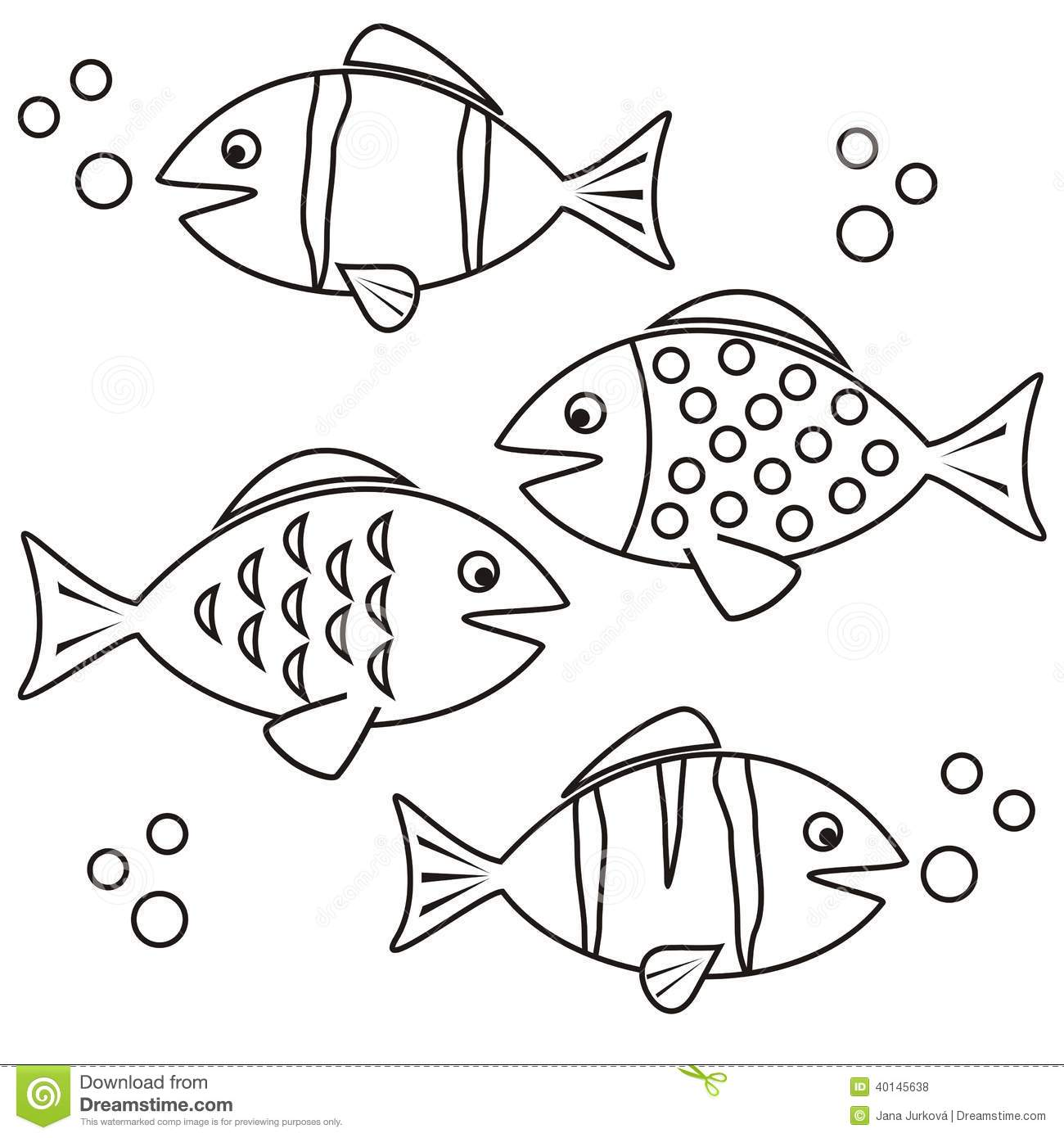 Fishes - Coloring Stock Vector - Image: 40145638