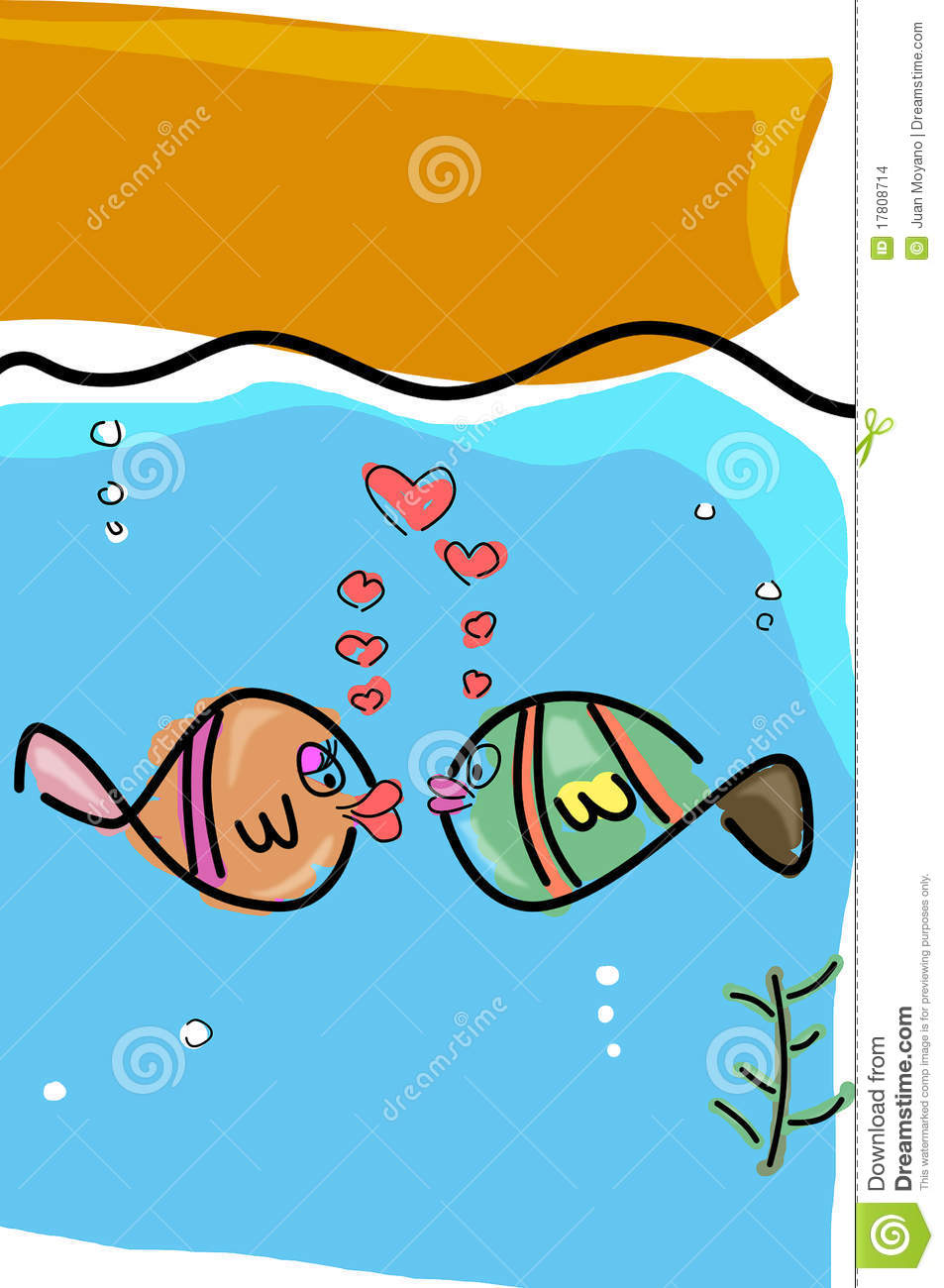 Fishes in love stock images image 17808714 for I love the fishes