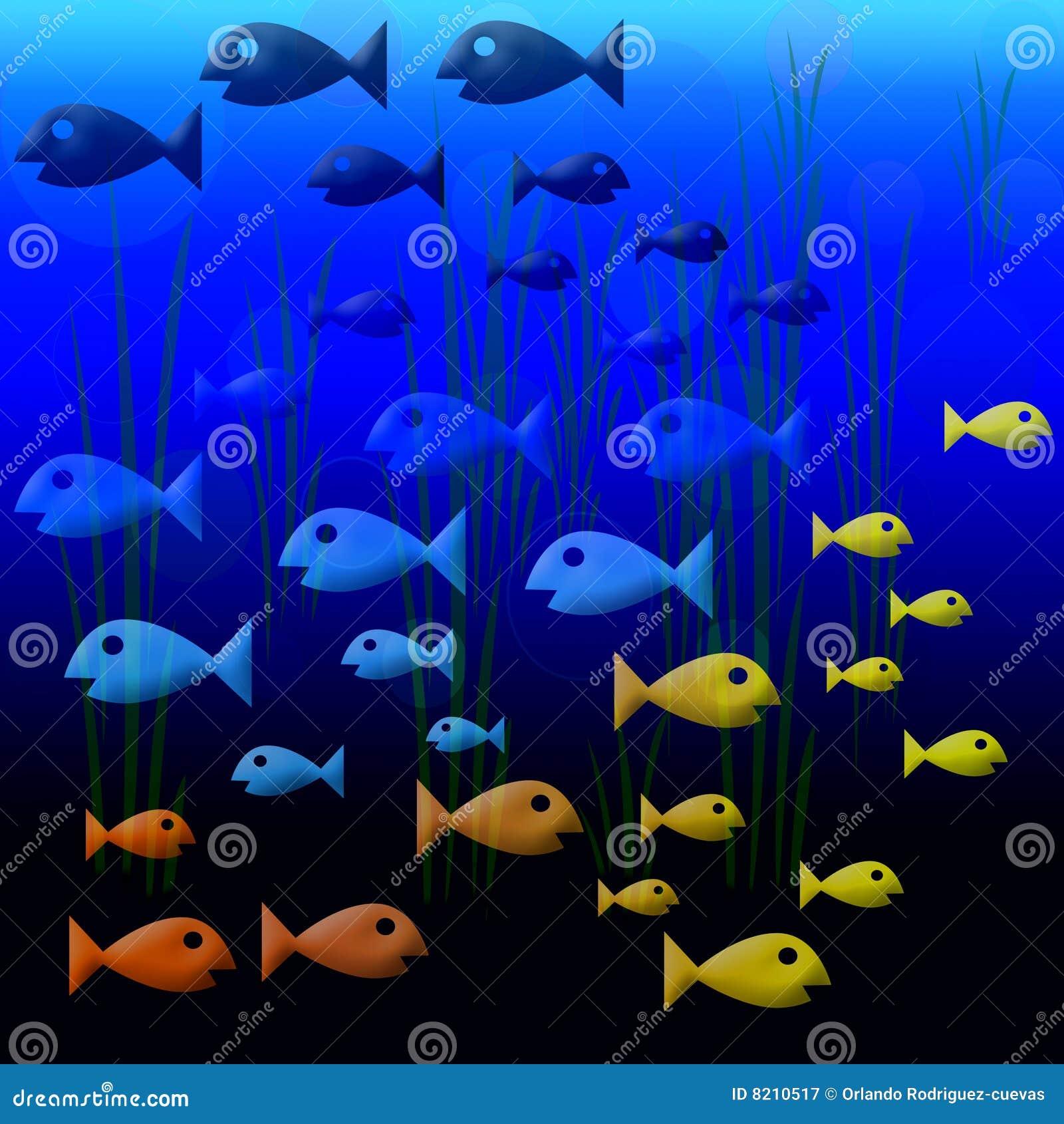 Fishies 2 royalty free stock photography image 8210517 for Fish swimming backwards