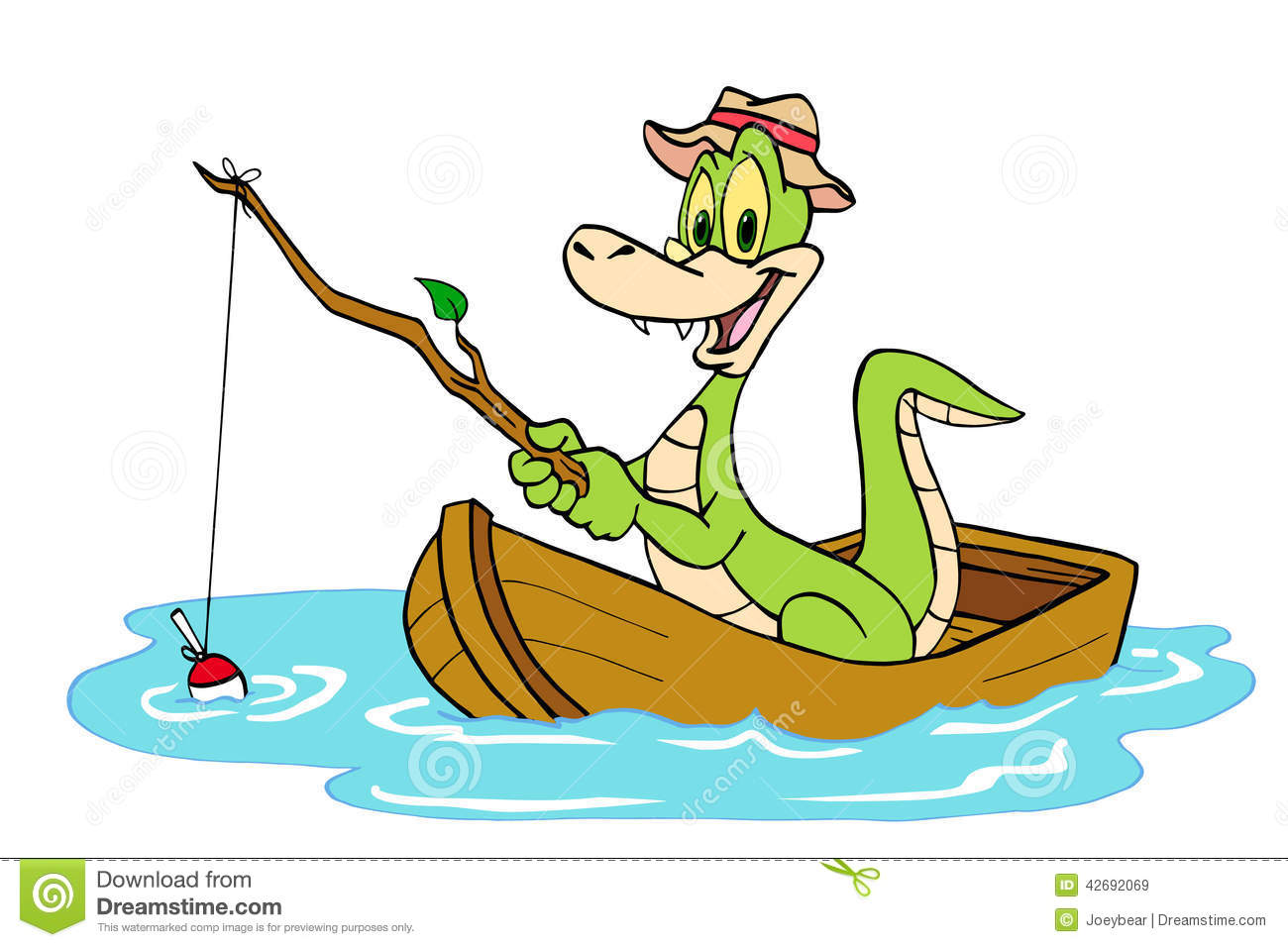 Fishing Alligator Stock Illustration - Image: 42692069