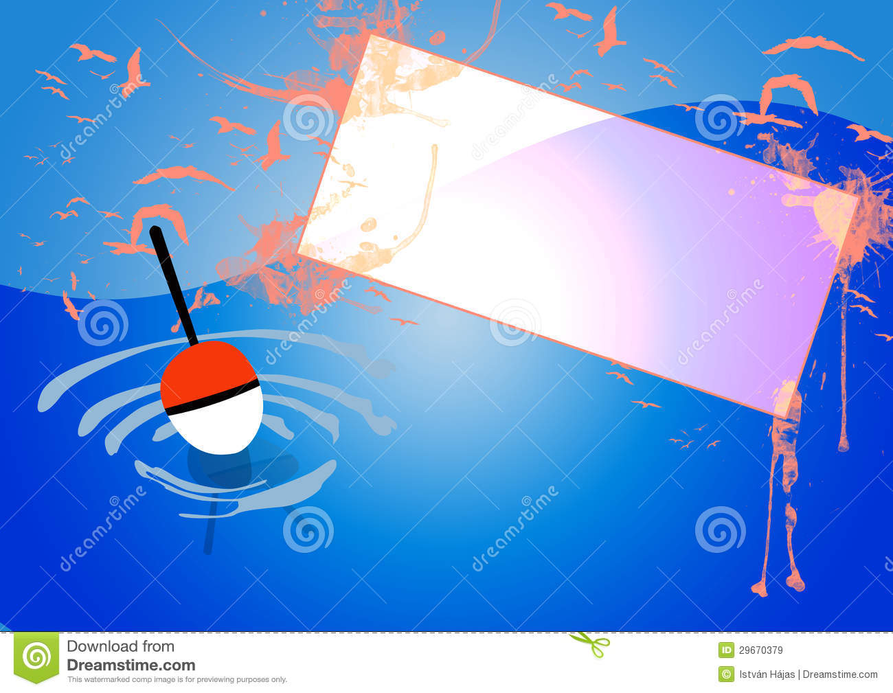 Fishing background stock illustration image of fish for Fishing times free