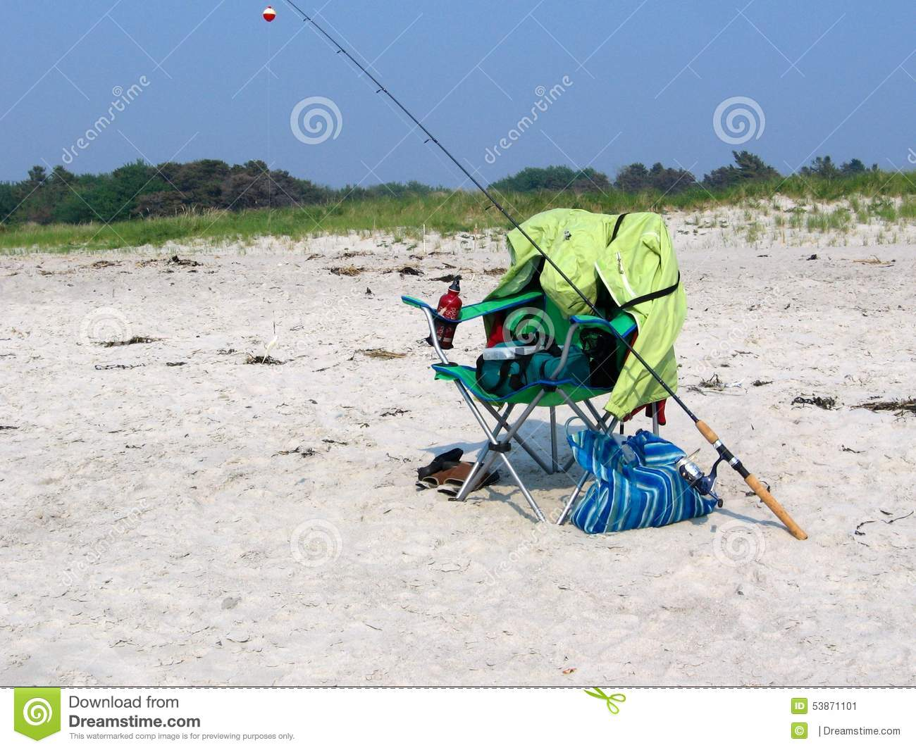 Fishing on the beach stock image image of maine fish for Who sells fishing license near me