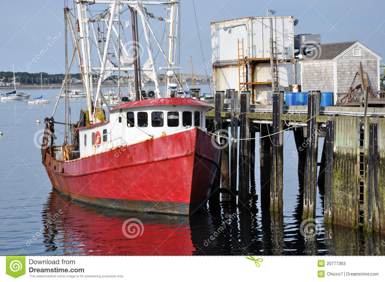 Fishing boat at the dock stock photos image 20777363 for Mass commercial fishing license