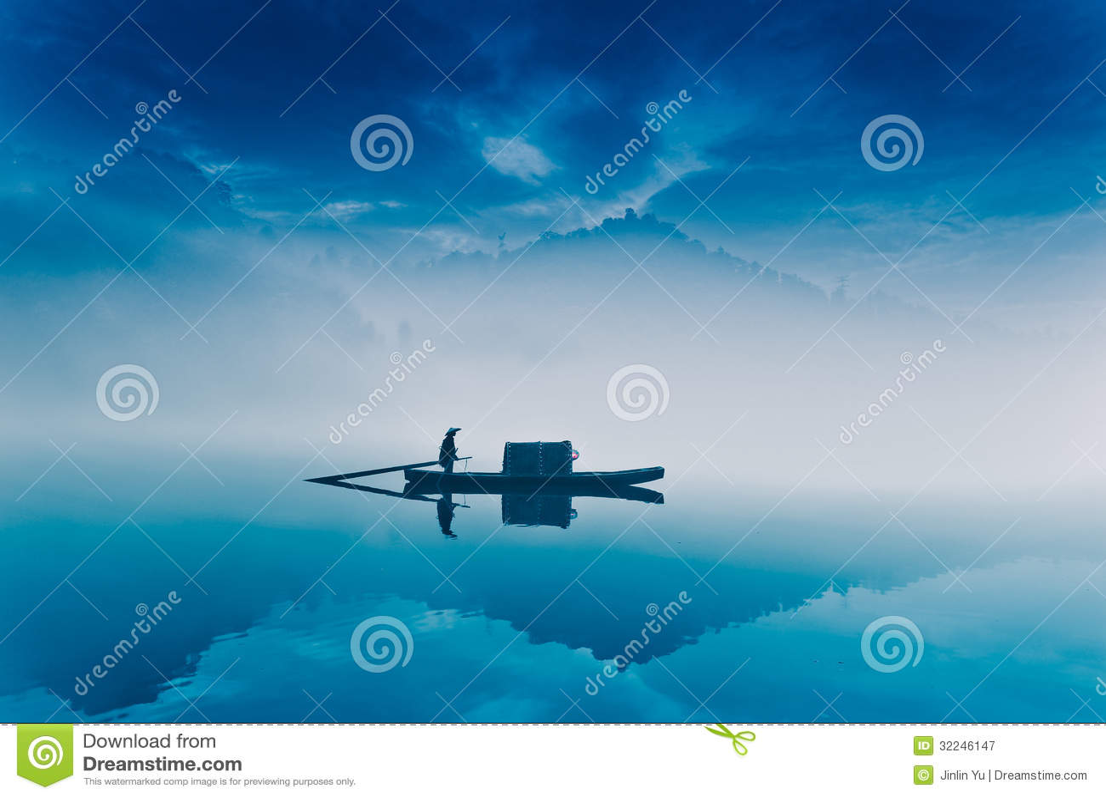 Fishing-boat in fairyland