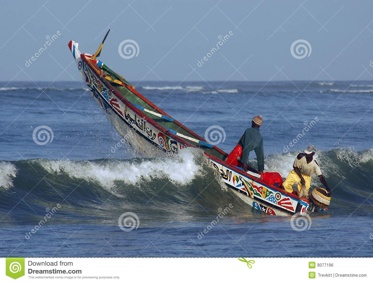 Fishing Boat Going Over A Wave Royalty Free Stock Image - Image ...