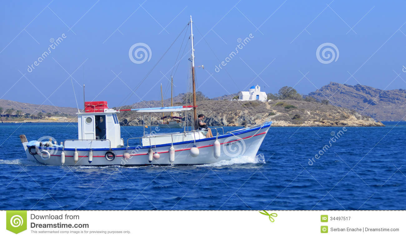 Fishing Boat In Greece Royalty Free Stock Photography - Image: 34497517