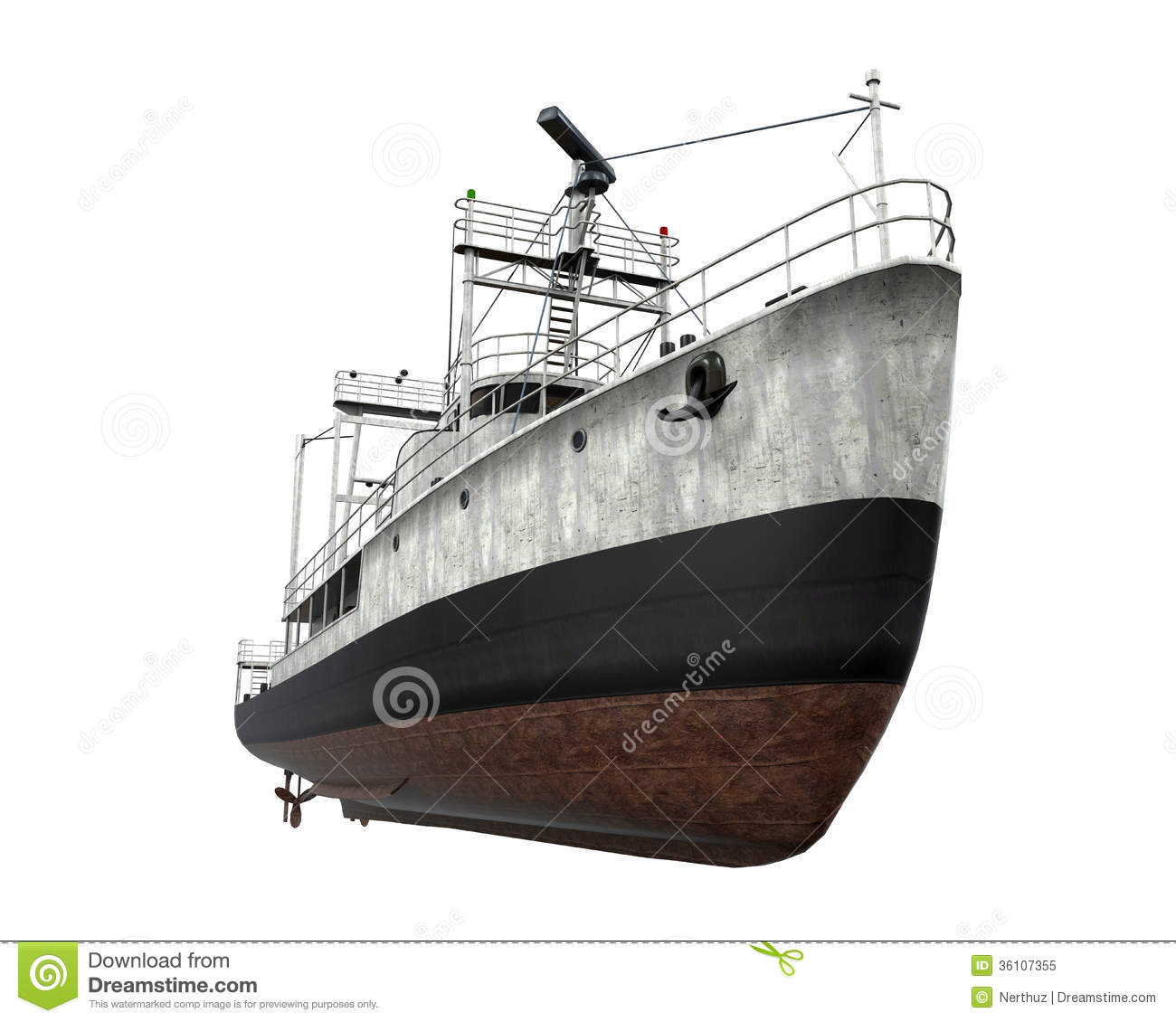 Fishing Boat Isolated Royalty Free Stock Photo - Image: 36107355