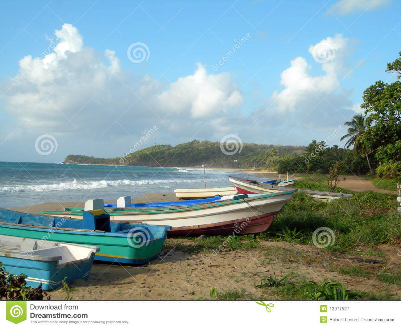 Fishing boat long bay beach corn island nicaragua royalty for Long beach fishing boat