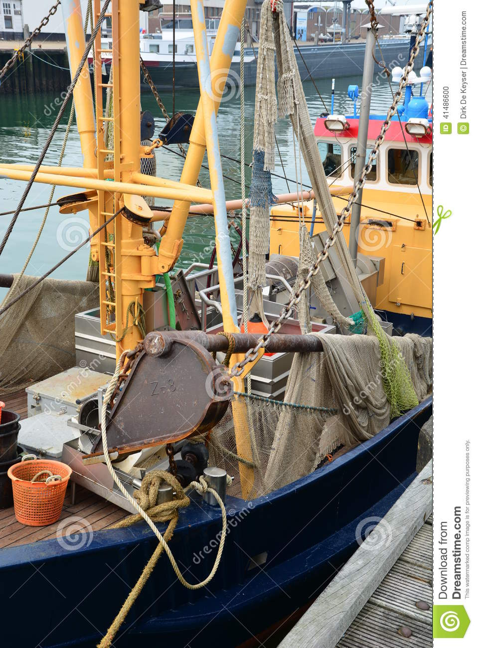 Fishing boat for North Sea shrimps