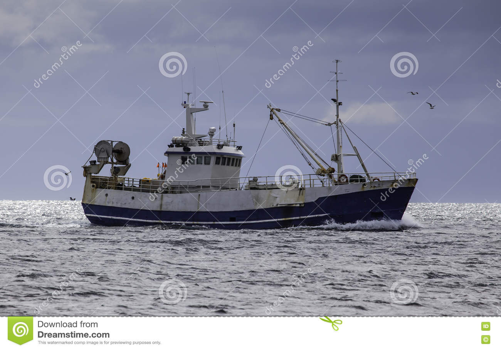 Fishing Boat stock photo. Image of norway, modern, seascape - 70655176