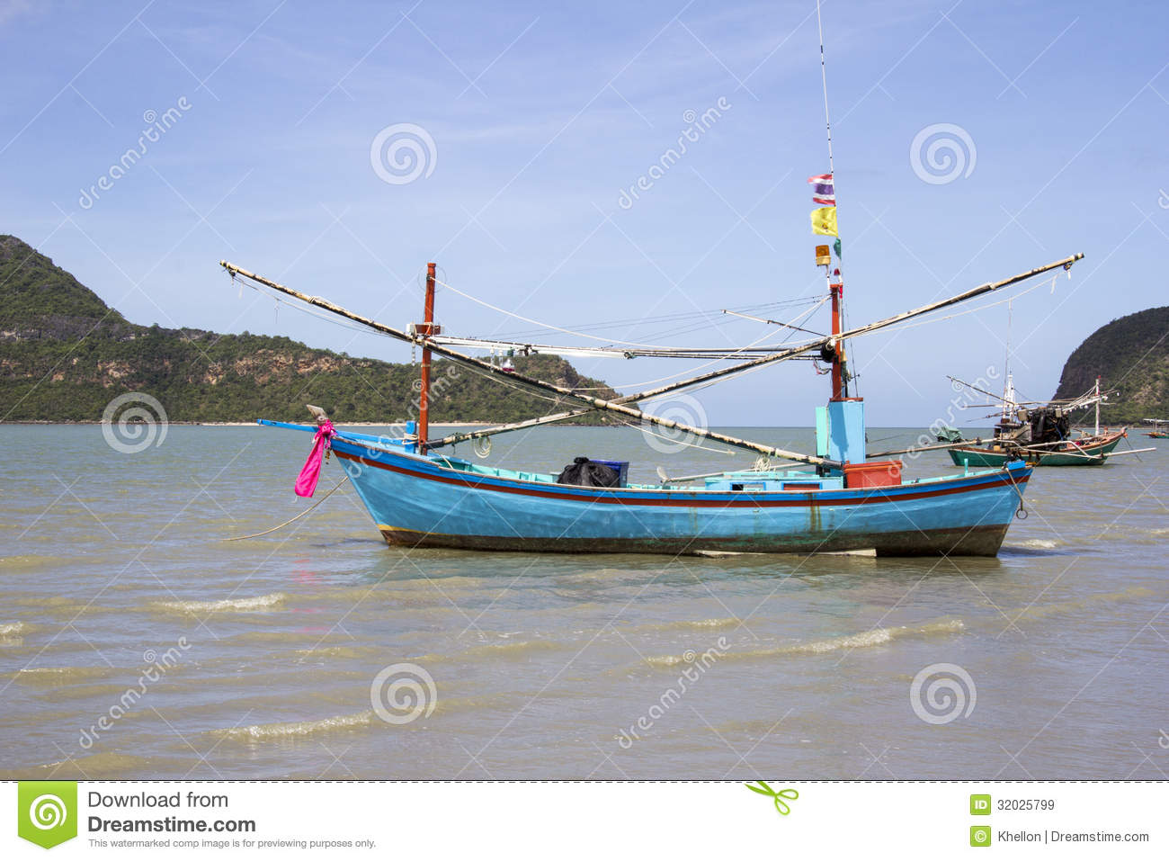 fishing boat in sam roi yot royalty free stock images image