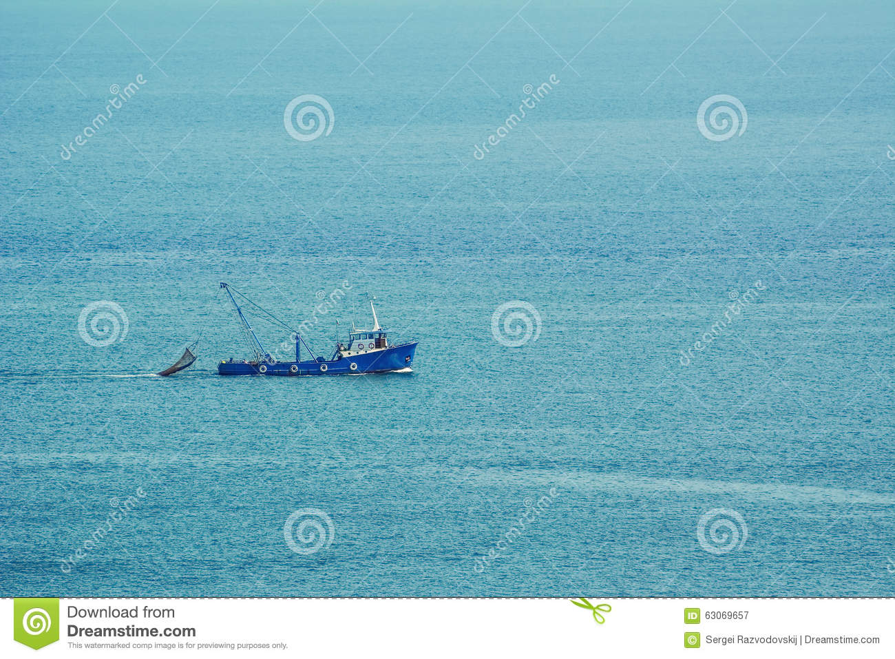 Fishing-boat in the Sea