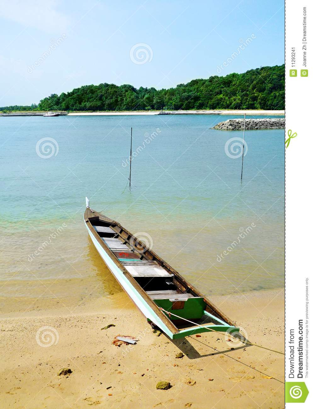 Download Fishing Boat On Tropical Island Beach Stock Image Image Of Seasides Nature