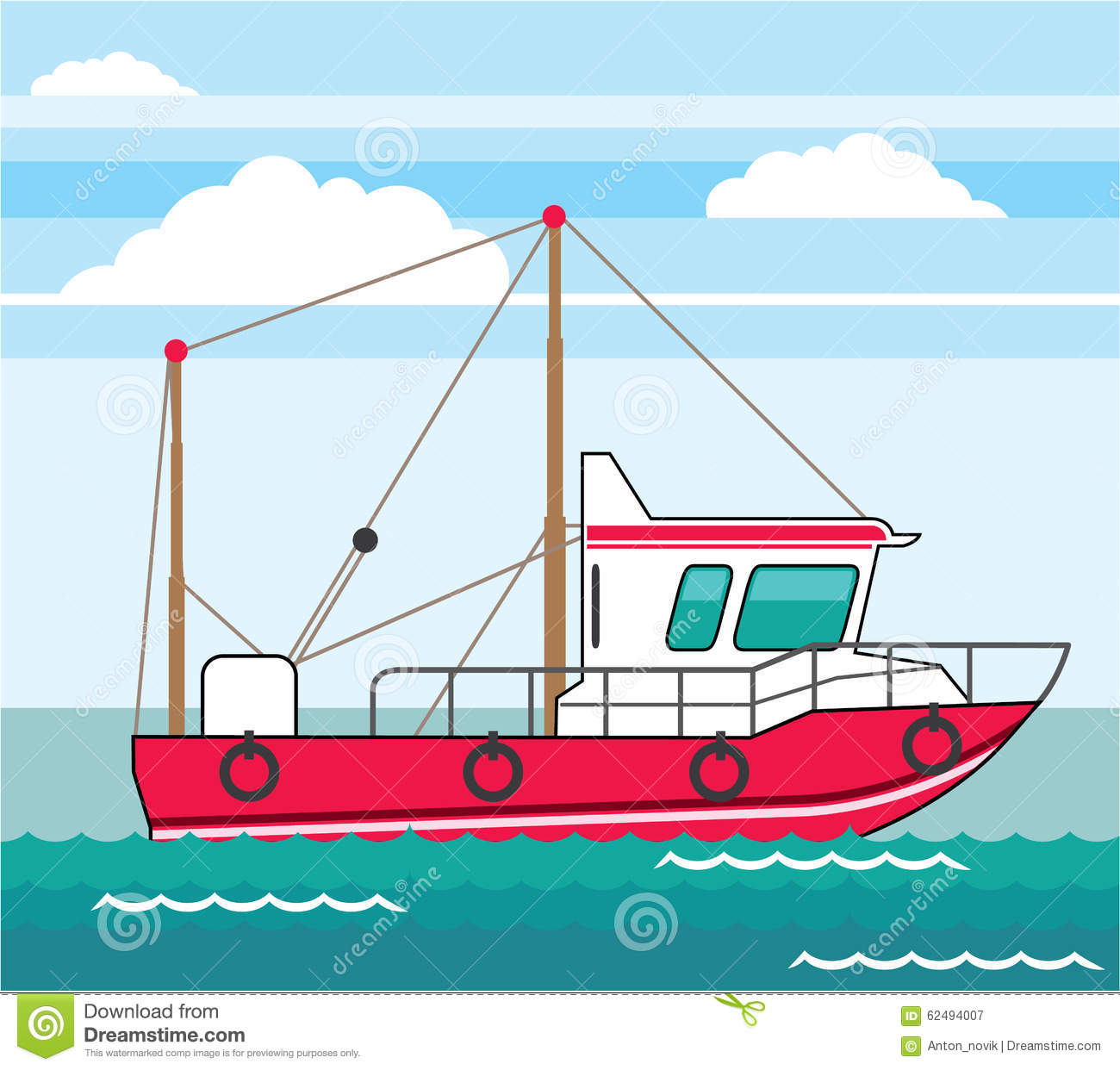 Fishing boat clip art