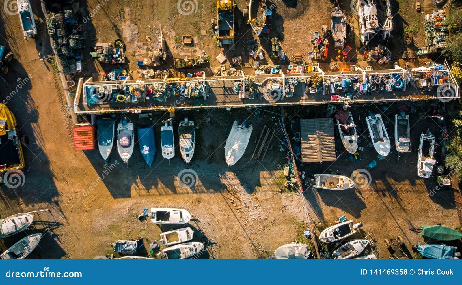 A fishing boat yard