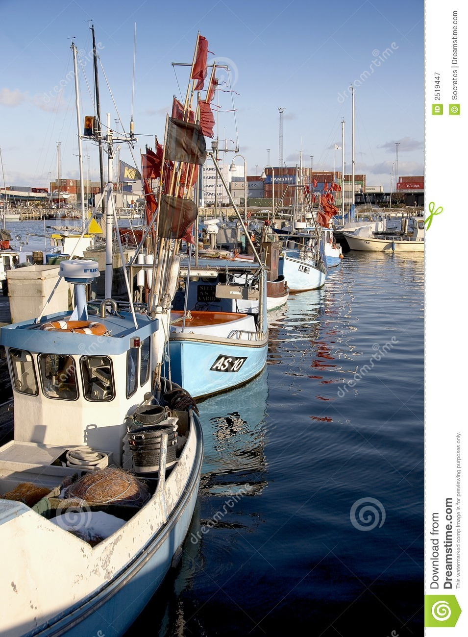 Fishing boats royalty free stock photography image 2519447 for Free fishing boats