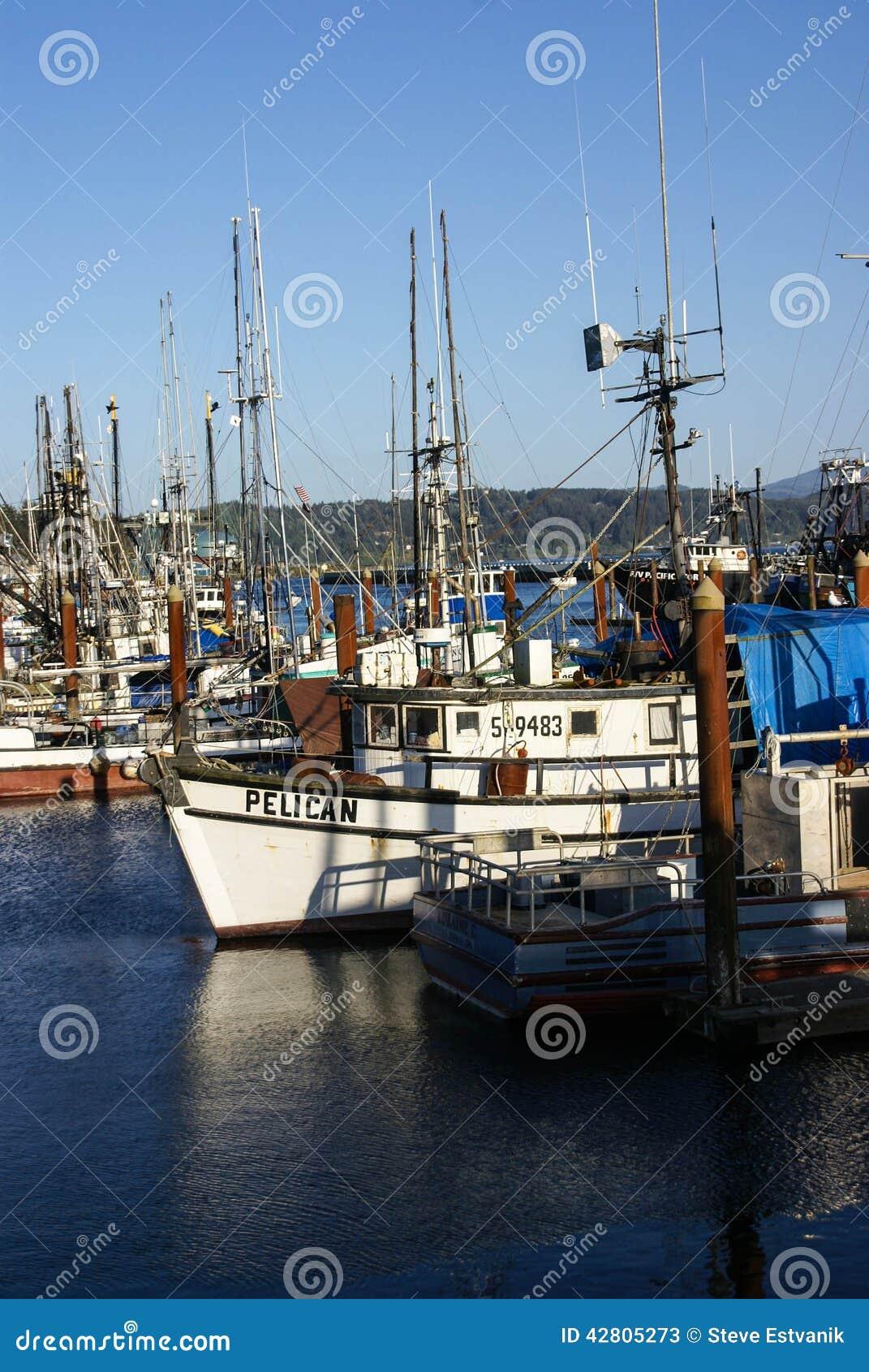 Fishing boats at anchor editorial stock photo image for Newport oregon fishing