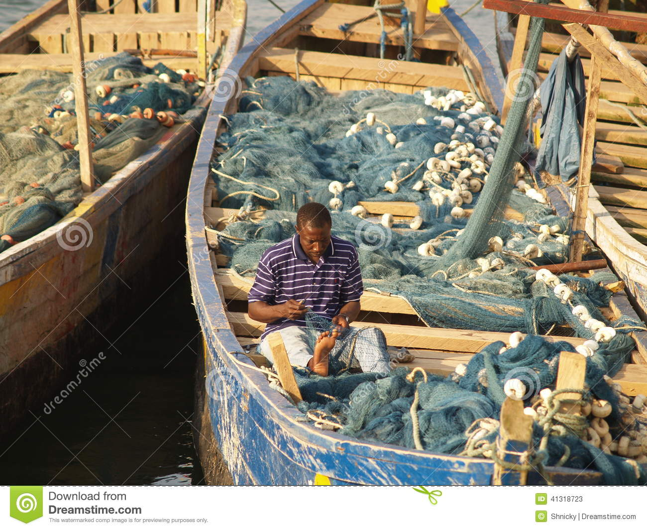 Fishing Boats In Cape Coast, Ghana, Africa Editorial Stock Photo - Image: 41318723