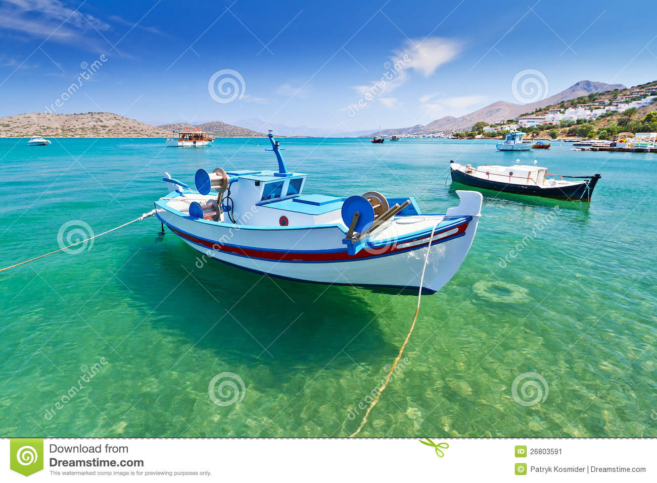 Fishing boats at the coast of Crete