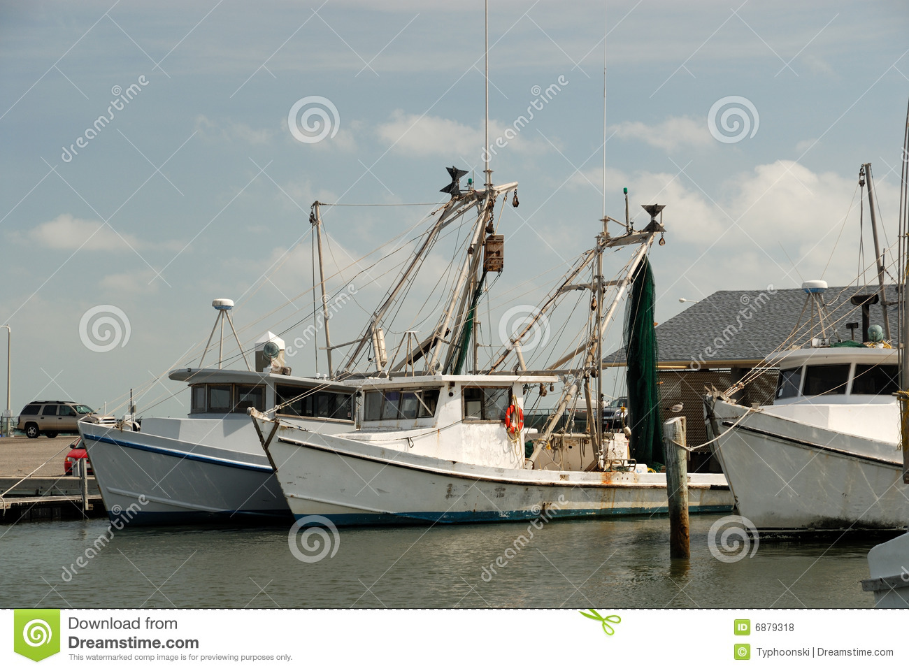 Fishing Boats In Corpus Christi Royalty Free Stock Photos