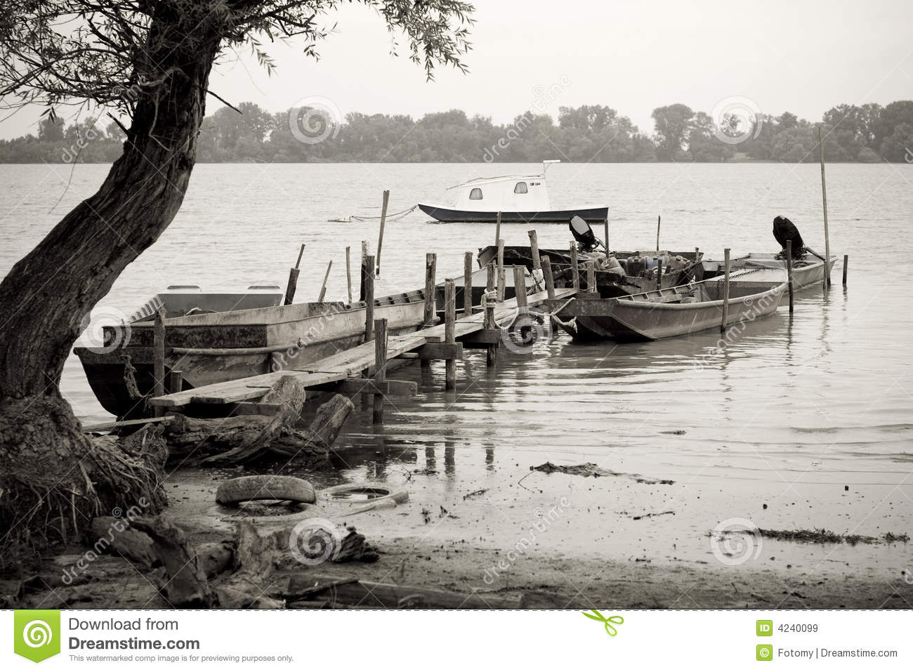 fishing boats on danube river royalty free stock images image