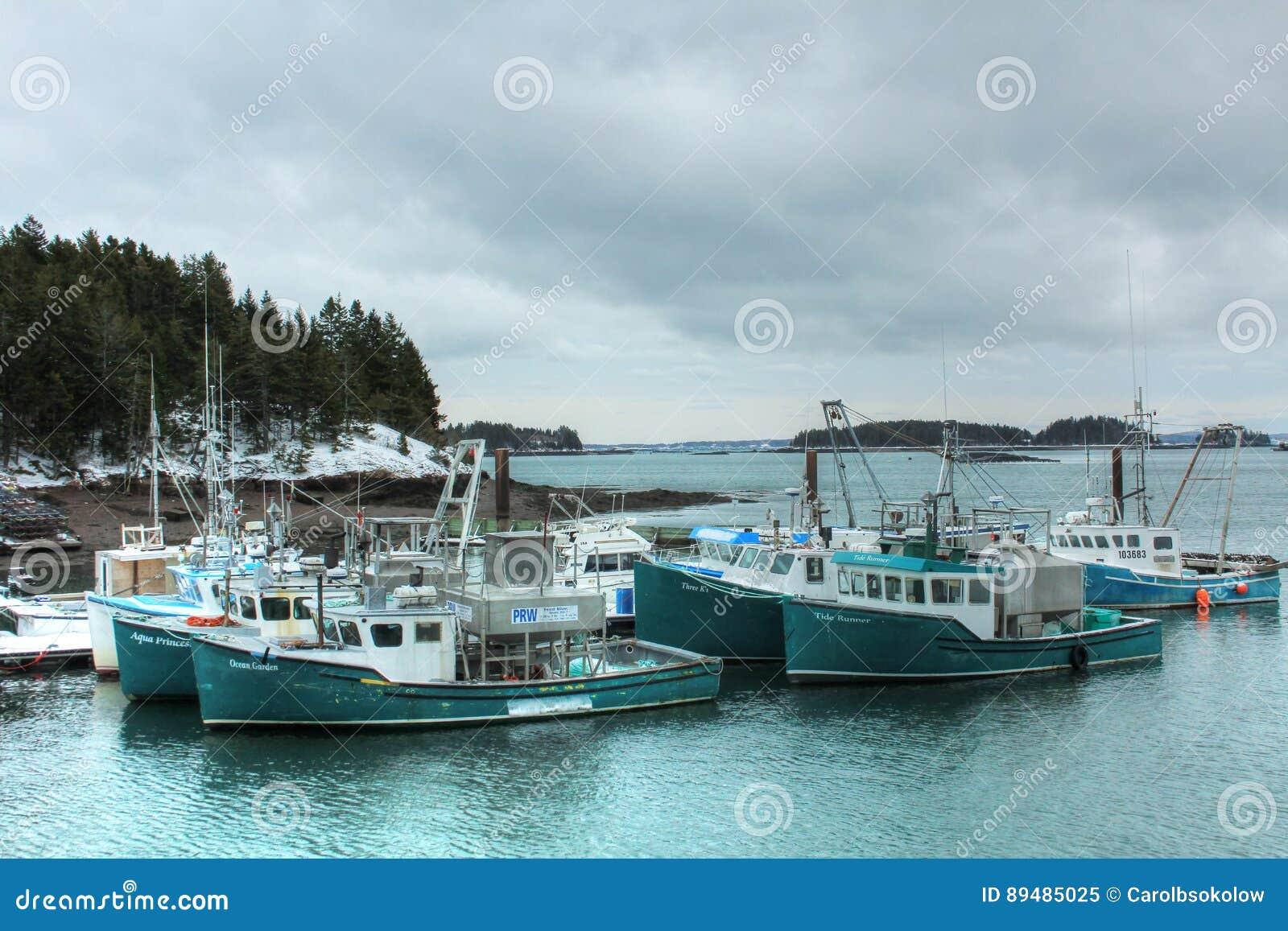 Fishing Boats At Deer Island, New Brunswick Editorial Image