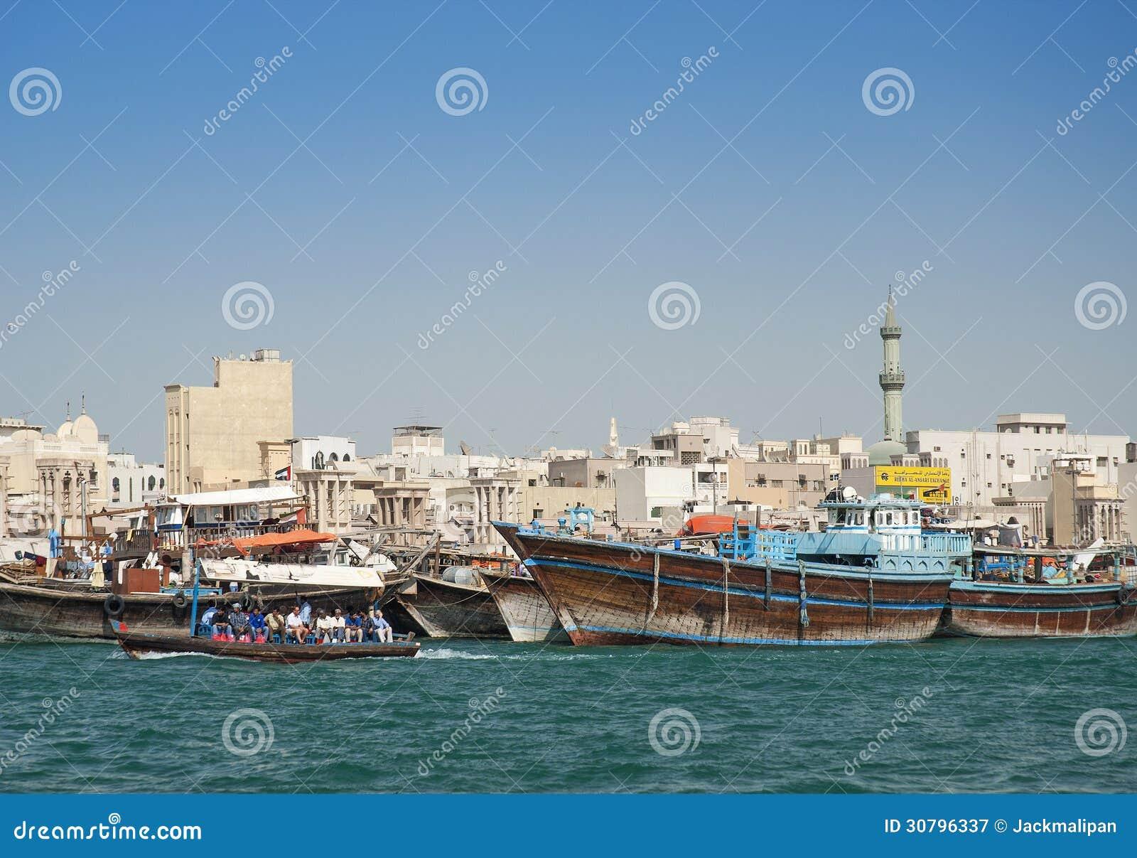 Fishing boats in dubai harbour editorial photography for Fishing in dubai