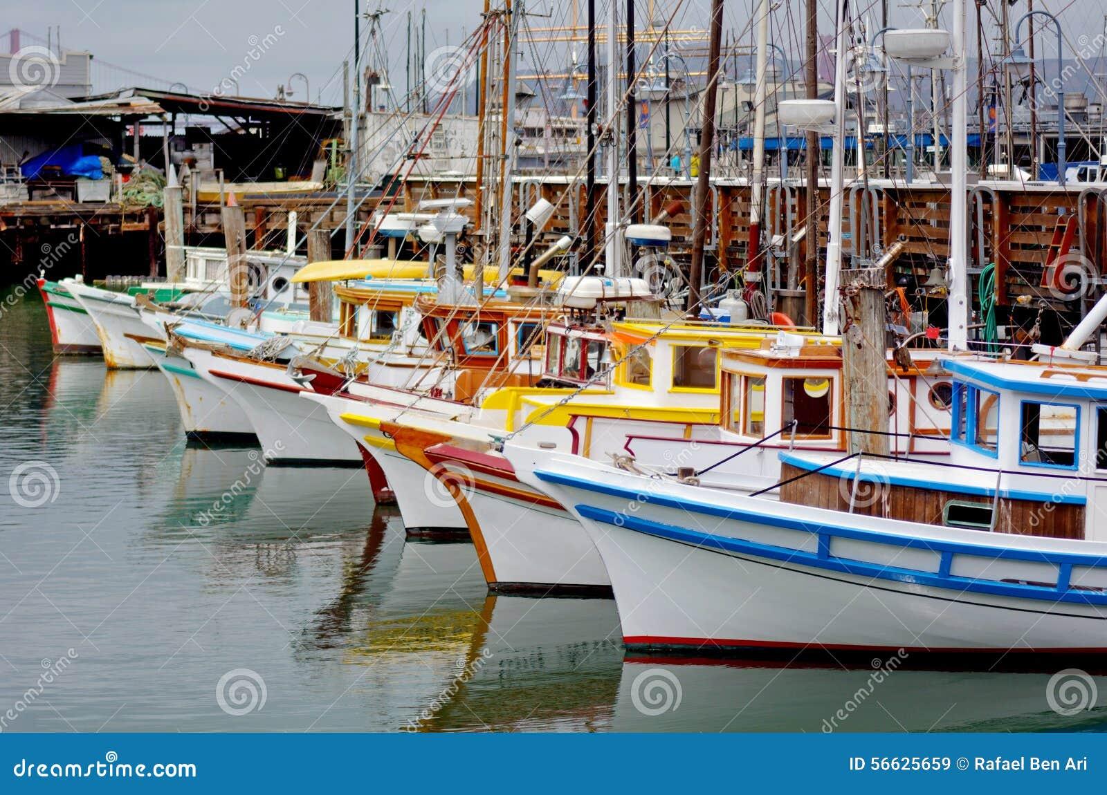 Fishing boats in fisherman wharf san francisco stock photo for San francisco fishing