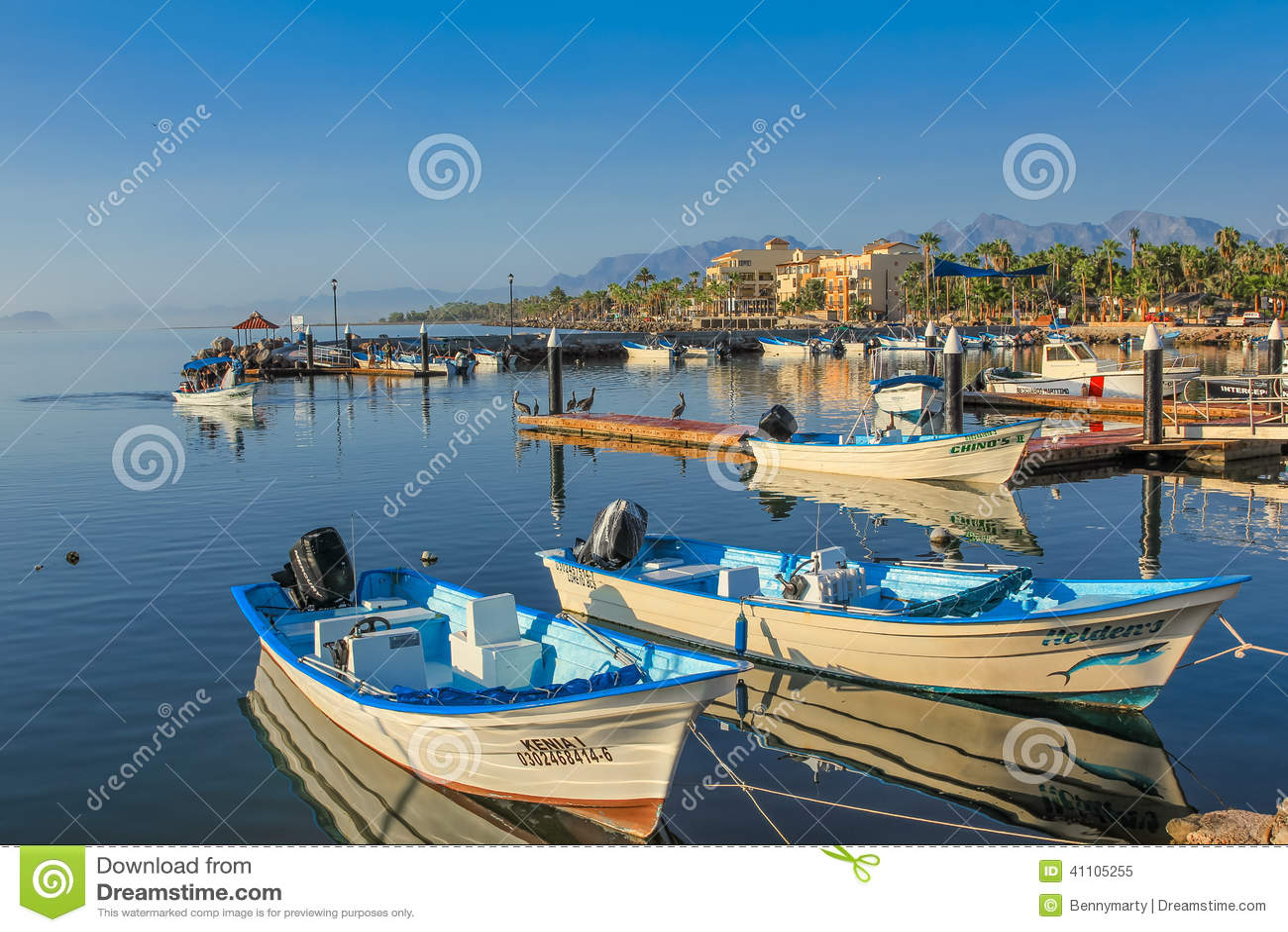 Port of loreto editorial image image 41105255 for Baja california fishing