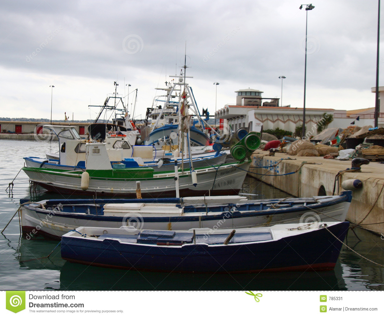 Fishing Boats in the harbour at Javea