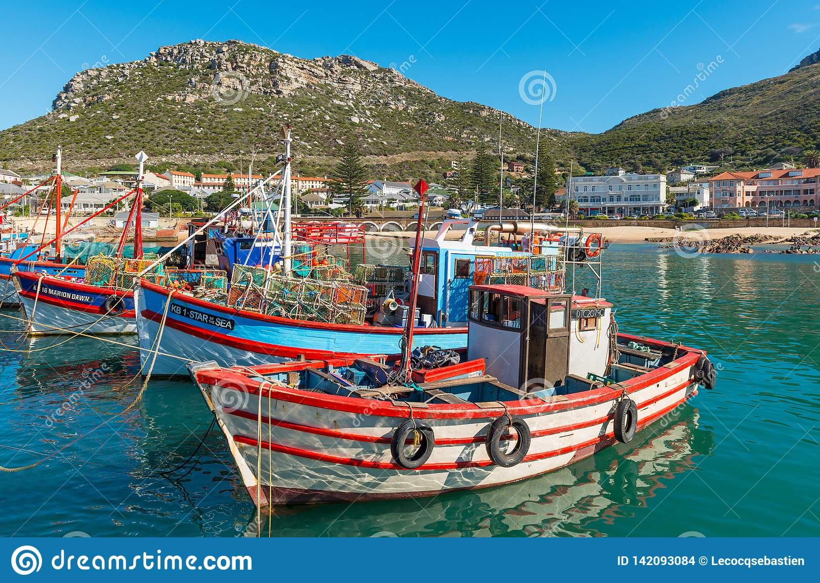 Fishing Boats in Kalk Bay, Cape Town, South Africa